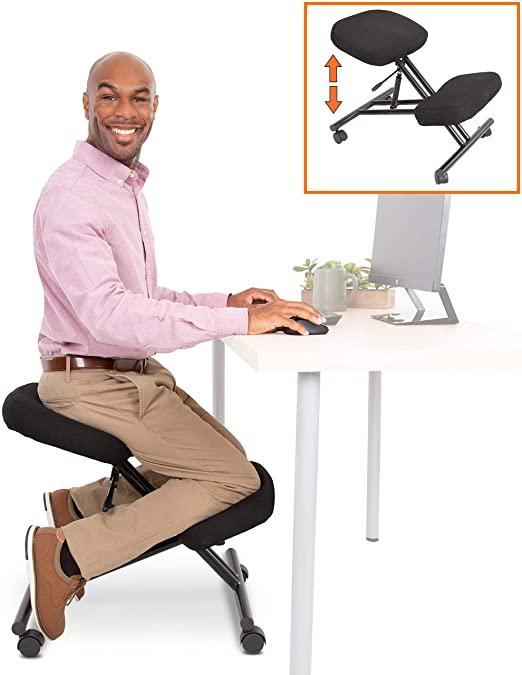 Amazon.com: ProErgo Pneumatic Ergonomic Kneeling Chair | New .