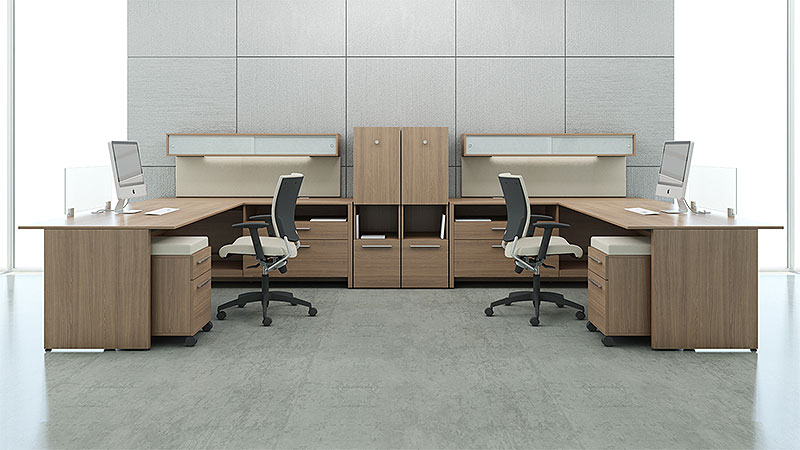 LEFT- AND RIGHT-HANDED L-SHAPE DESKS - Common Sense Office Furnitu