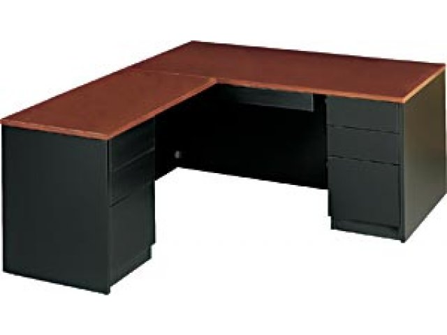 Milan L-Shaped Office Desk, Right MLN-6672R, Office Des