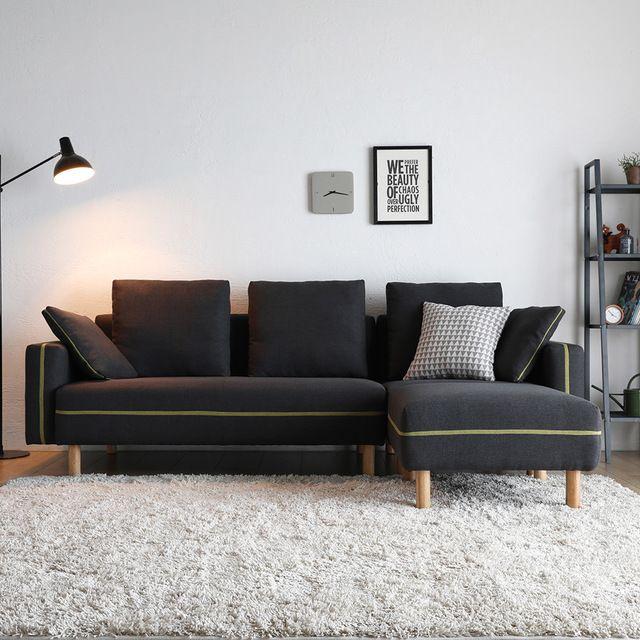 Source New model italian wooden legs corner l shaped sofa bed .