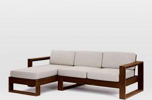 Solid Wood Cube L Shape Sofa in 2020   L shaped sofa, Furniture .