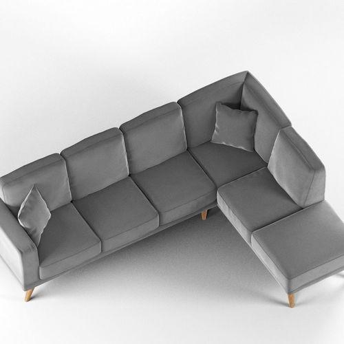 Modern L-Shaped Sofa 3D | CGTrad