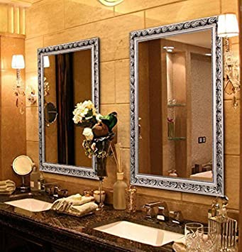 Amazon.com: Hans & Alice Large Rectangular Bathroom Mirror, Wall .