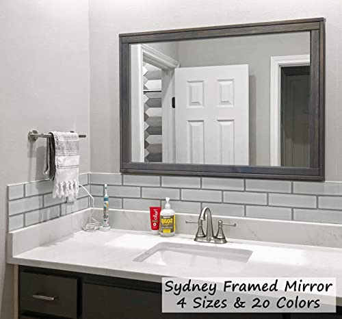 Amazon.com: Sydney Rustic Mirror - Vanity Mirror, Bathroom Mirror .