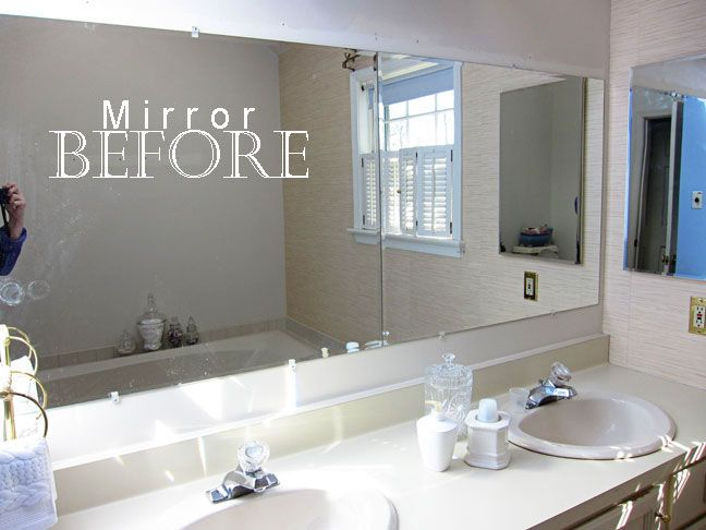 How to Frame a Bathroom Mirror | Bathroom mirrors diy, Large .