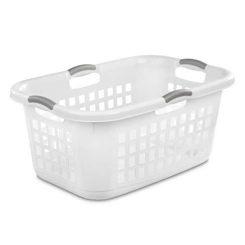 2 Bushel Capacity Single Laundry Basket White - Room Essentials .