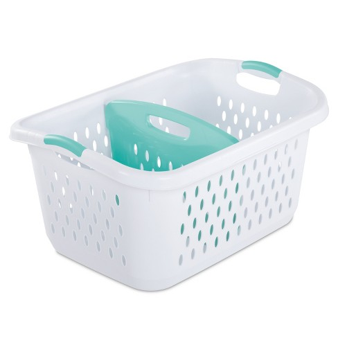 2.2 Bushel Divided Laundry Basket White - Room Essentials™ : Targ