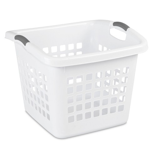 1.75 Bushel Square Laundry Basket White - Room Essentials™ : Targ