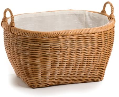 Amazon.com: The Basket Lady Oval Wicker Laundry Basket, Jumbo, 25 .