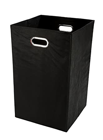 Amazon.com: Folding Laundry Basket, Solid Black: Ba
