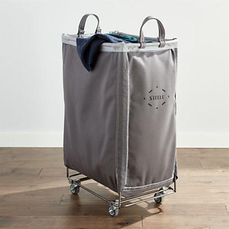Steele Briquette Vertical Canvas Laundry Bin + Reviews   Crate and .