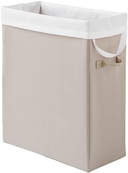 Amazon.com: Neatfreak Slim Space-Saving Laundry Hamper,Beige: Home .