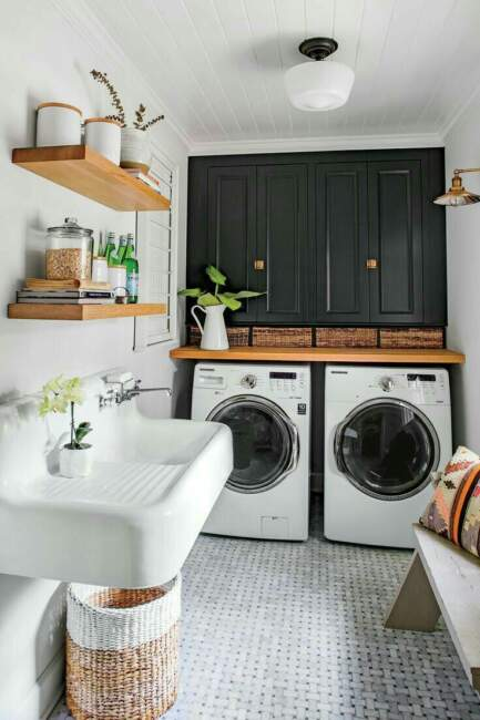 20+ Farmhouse Laundry Room Ideas That Looks Beautif