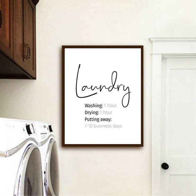 Laundry Print Laundry Room Decor , Funny Laundry Signs Typography .
