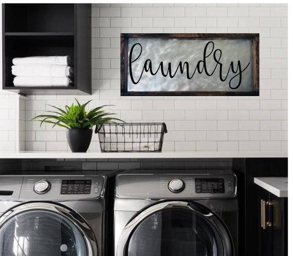 Laundry Room Decor Laundry Sign Decor Wood Laundry Room | Et
