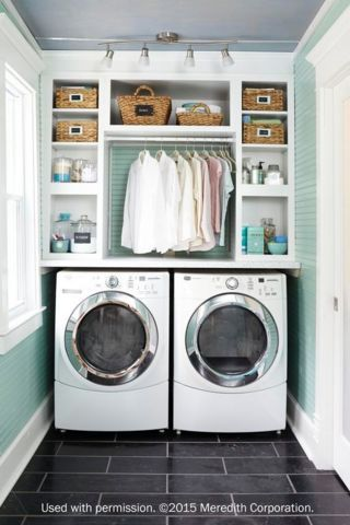 Laundry Room Decorating Ideas To Help Organize Space | Small .