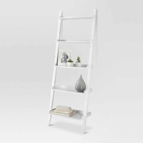 "72"" Carson Leaning Bookcase White - Threshold™ : Targ"