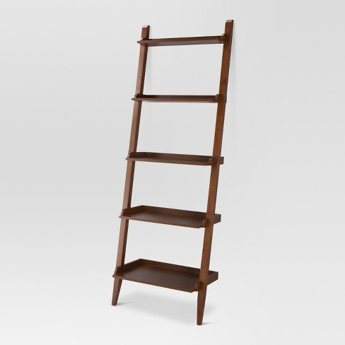 "72"" Carson Leaning Bookcase Midtone - Threshold™ : Targ"