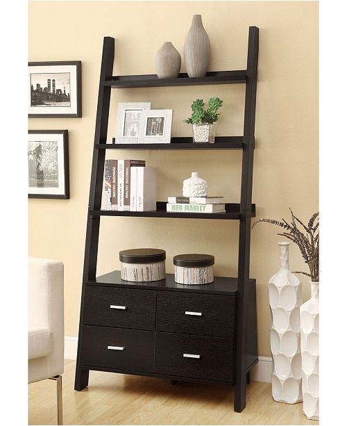 Coaster Home Furnishings Wingate Contemporary Leaning Bookcase .