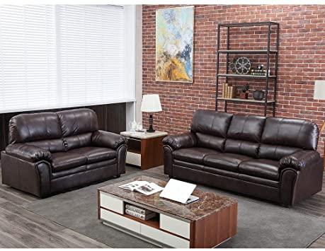 Amazon.com: Sofa Sectional Sofa Sofa Set PU Leather Loveseat Sofa .