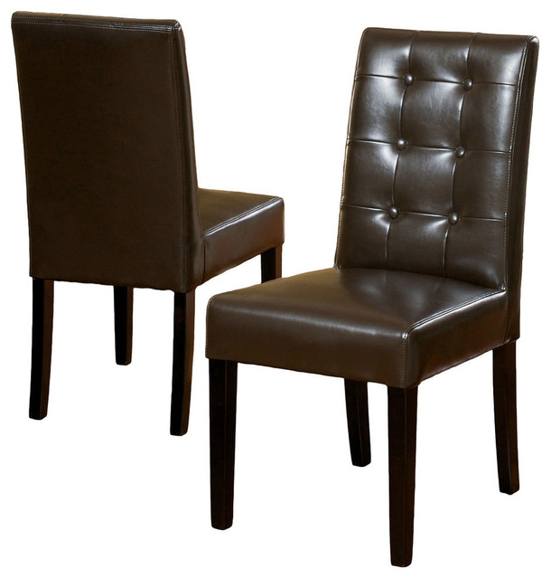 GDF Studio Gillian Leather Dining Chair, Set of 2 - Transitional .
