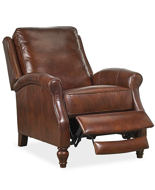 Furniture Leeah Leather Pushback Recliner & Reviews - Recliners .