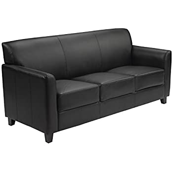 Amazon.com: Flash Furniture HERCULES Diplomat Series Black Leather .