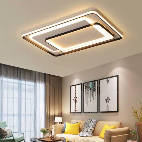 China Design Modern Living Room Square Flat LED Ceiling Light .
