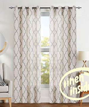 jinchan Moroccan Tile Print Curtains for Living Room Quatrefoil .