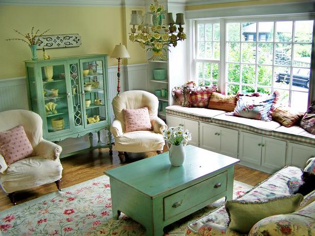 Modern Furniture: Cottage Living Room Decorating Ideas 20