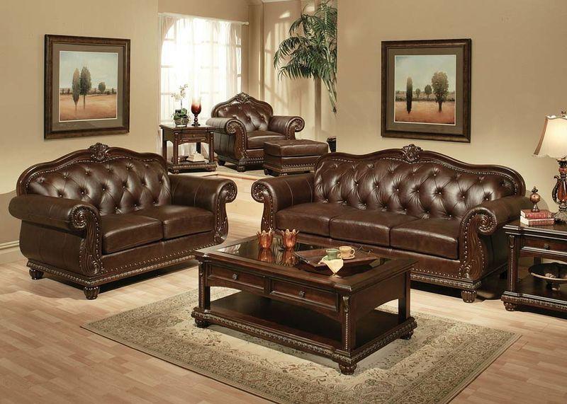 Abadan Formal Leather Living Room Set | Free Shippi