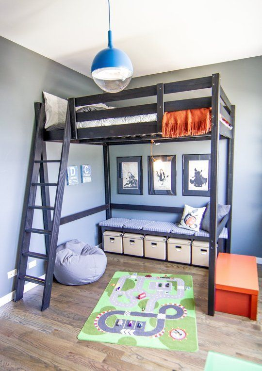 Raise the Roof: Kids' Loft Bed Inspiration | Cool loft beds, Loft .
