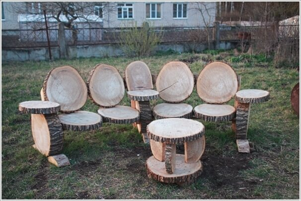 How About Decorating with Log Furniture This Fal