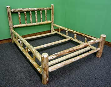 Amazon.com: Midwest Log Furniture- Rustic Log Bed - King: Kitchen .