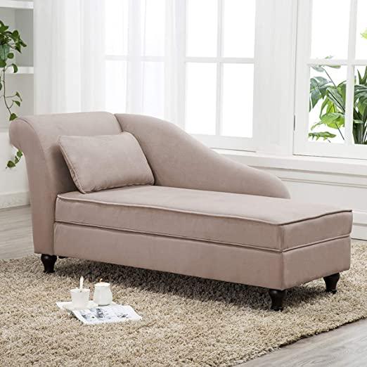 Amazon.com: Chaise Lounge Storage Upholstered Sofa Lounge Chair .