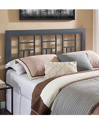New Savings on WE Furniture Geometric Square Queen Metal Headboard .
