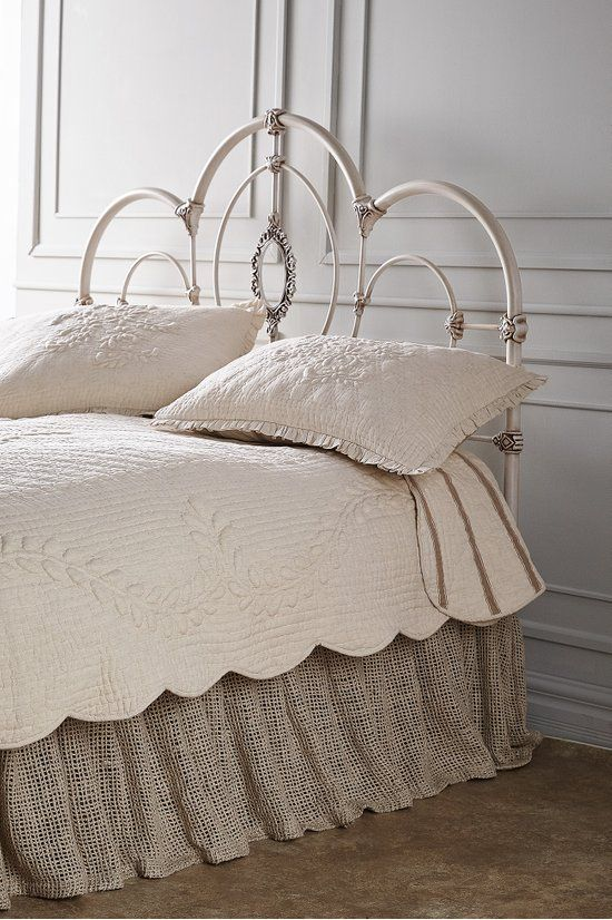 Frances Metal Headboard - Wrought Iron Inspired Headboard | Soft .