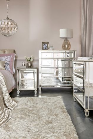 A boudoir fit for a princess, thanks to our gorgeous mirrored .