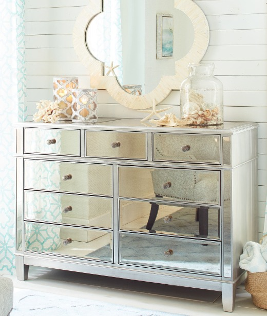 Bring Glamour & Sparkle to Coastal Decor with Mirrored Furniture .