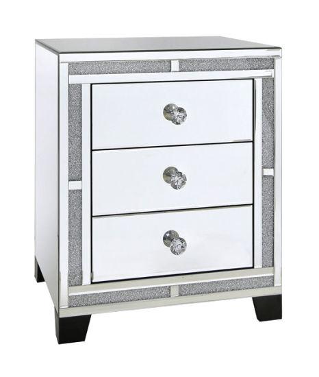 China Modern Crushed Diamond Mirrored Furniture 3 Drawers .