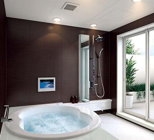 Simple and Modern Bathroom Designs by TO