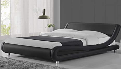 Amazon.com: Urest Queen Size Bed Frame Deluxe Solid Modern .