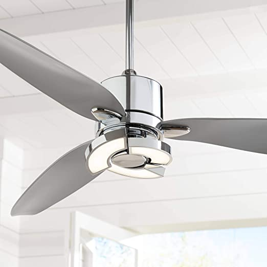 """56"""" Vengeance Modern Ceiling Fan with Light LED Remote Control ."""