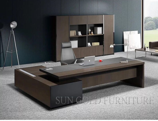 China Modern Design Luxury Office Table Executive Desk Wooden .