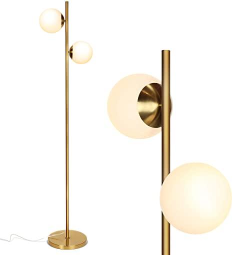Brightech Sphere - Mid Century Modern 2 Globe Floor Lamp for .