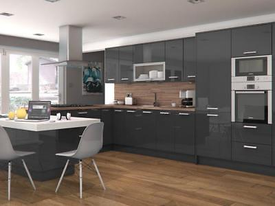 Delight glossy gray modern kitchen cabinets as lowest price | eB