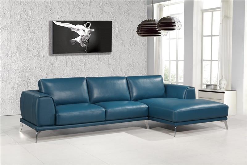 Modern genuine leather sofas l shape sofa set designs leather sofa .
