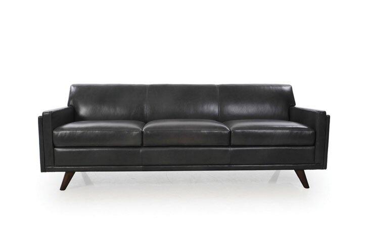 Corrigan Studio Ari Genuine Leather Modern Leather Sofa & Reviews .