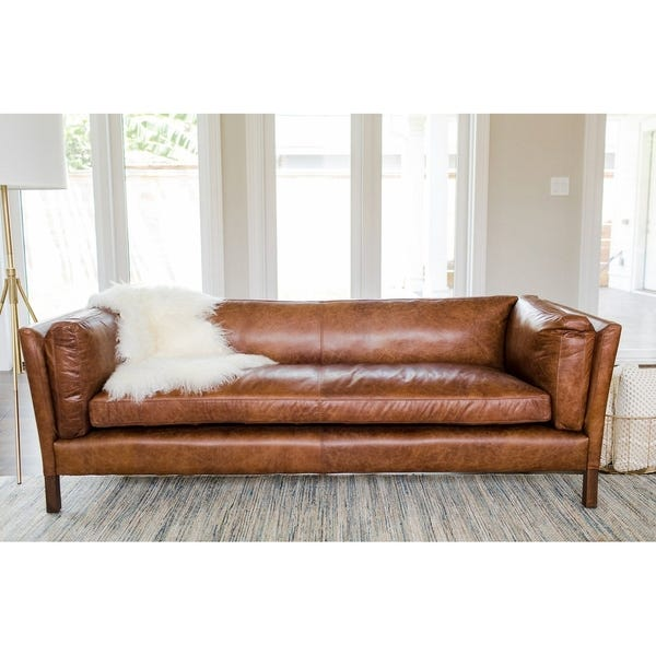Shop Modern Leather Sofa - Mid Century Modern Couch - Top Grain .