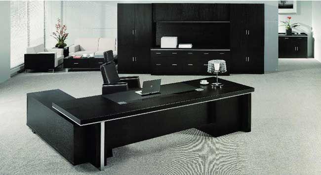 Echanting of Executive Office Desk Modern Luxury Black Office .
